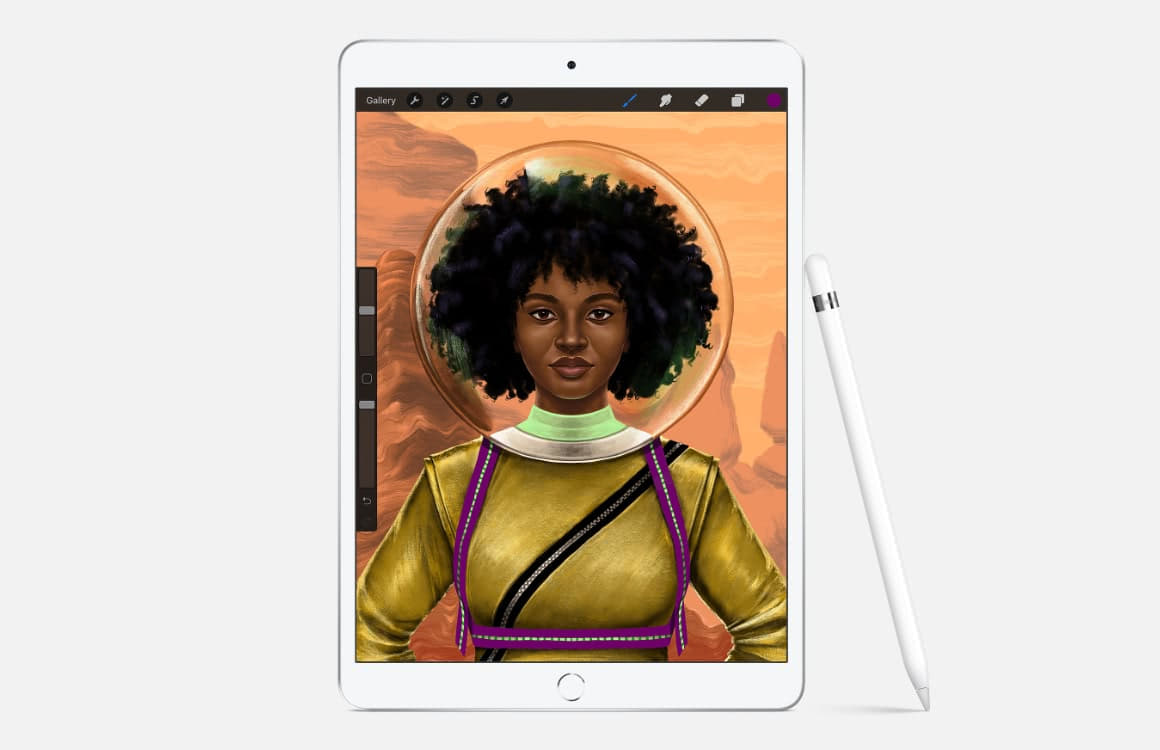 ipad air 2019 top