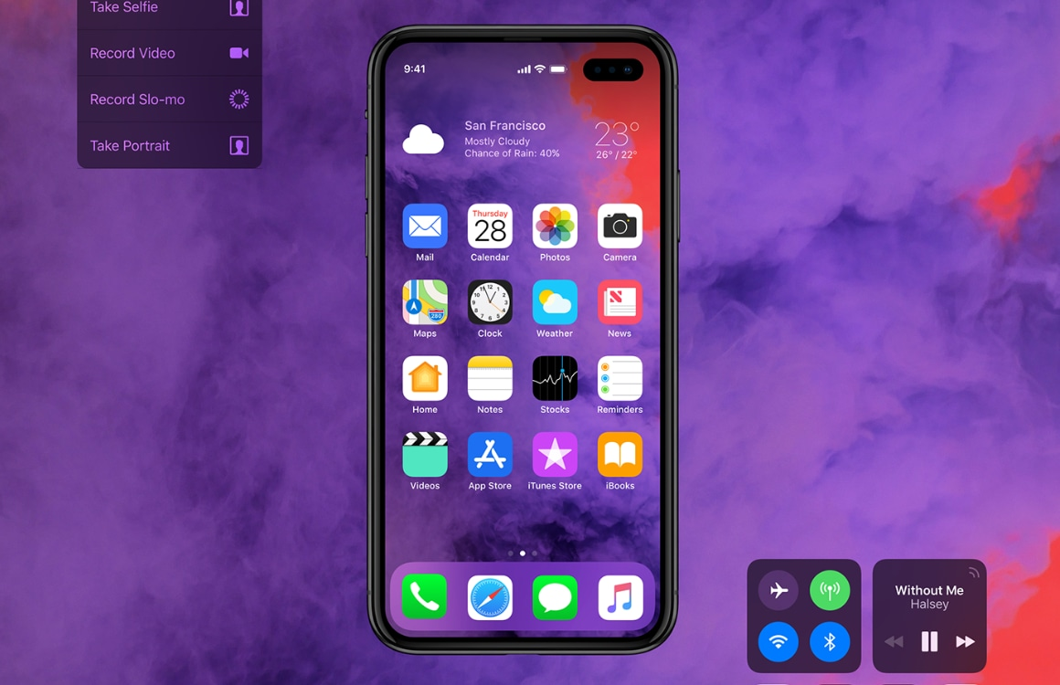 iPhone 2019 Galaxy S10 concept