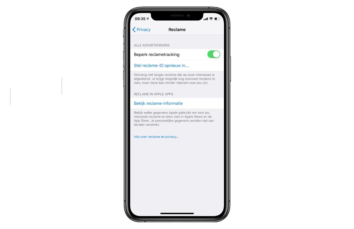 iPhone reclametracking