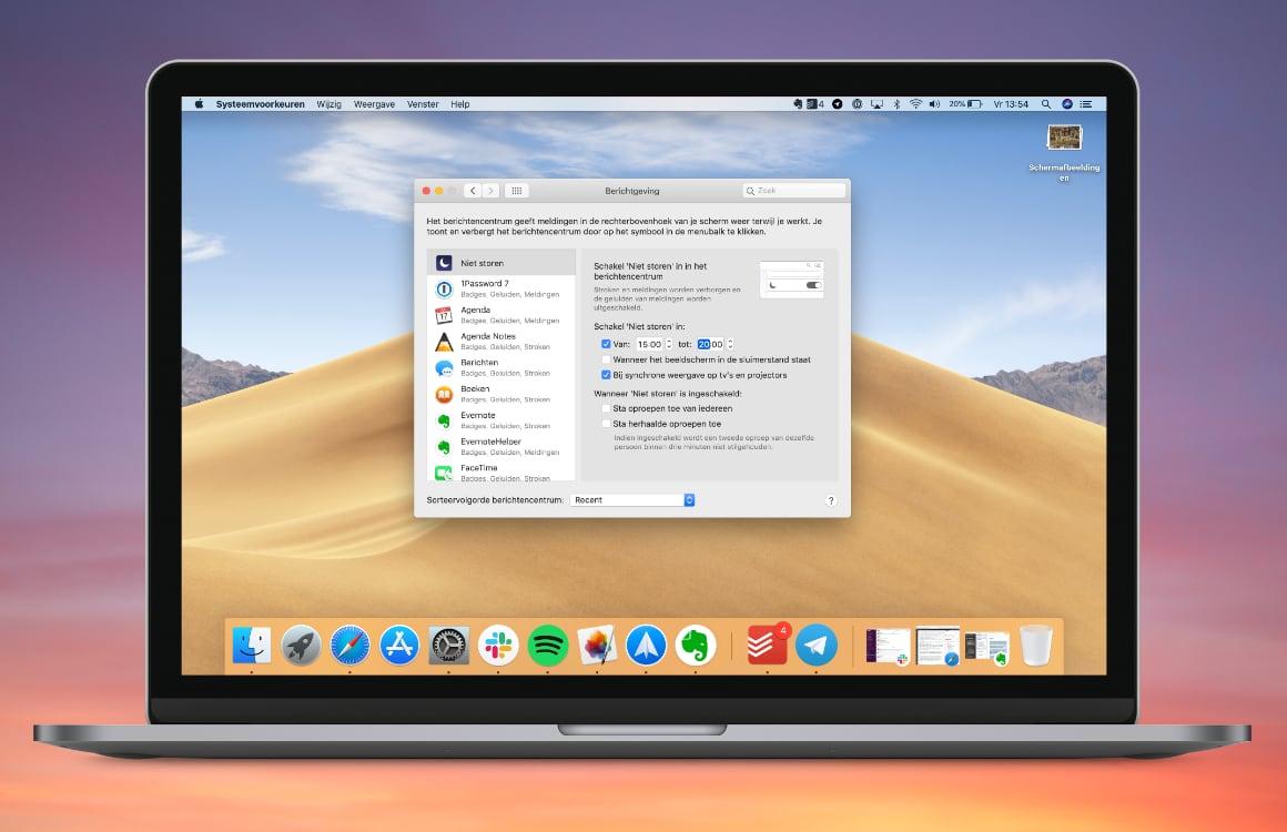 Tip: met Niet Storen op de Mac werk jij ongestoord verder