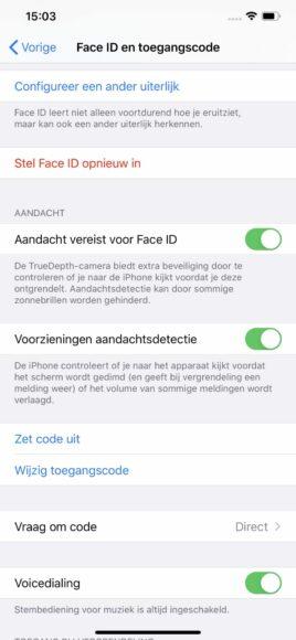 wachtwoord als toegangscode