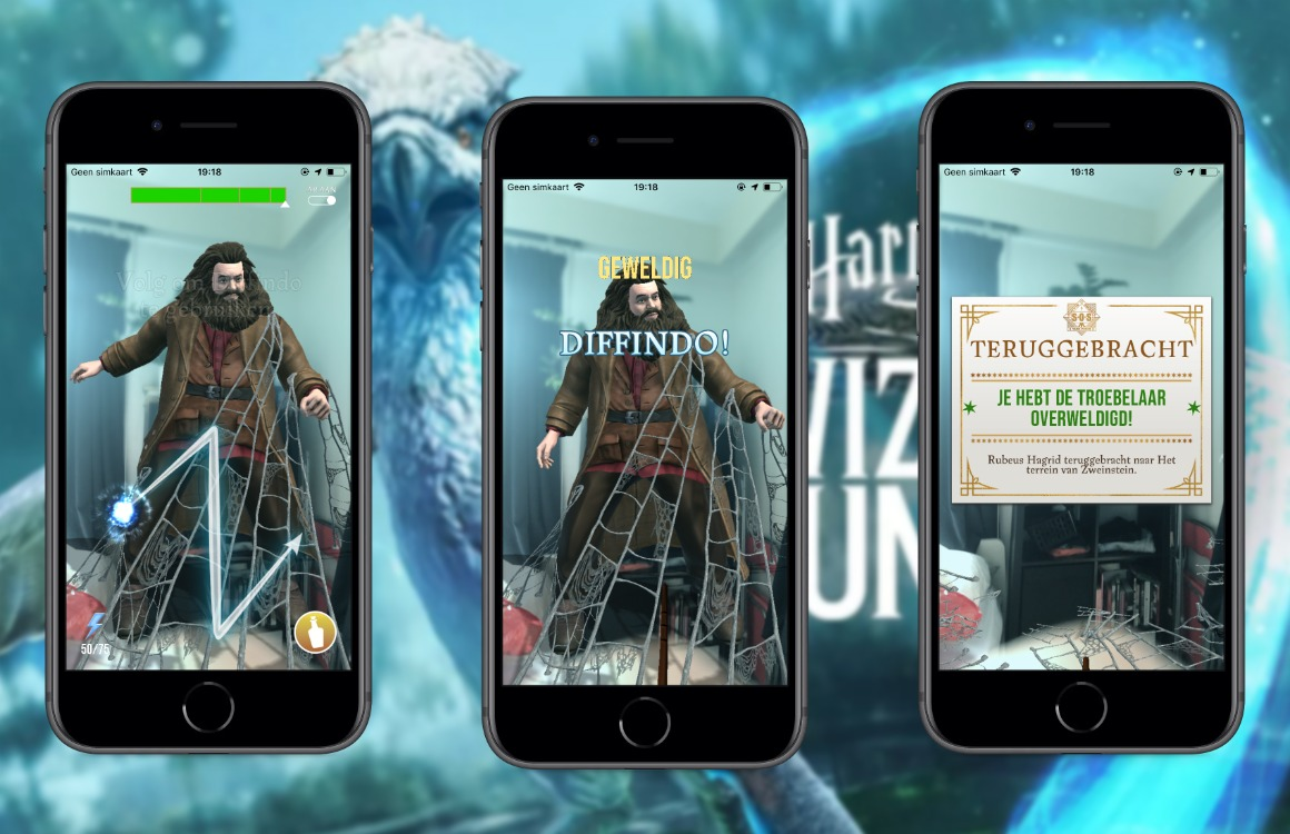 Harry Potter wizards unite downloaden screens