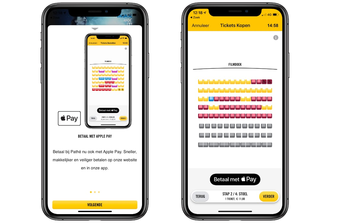winkels accepteren Apple Pay
