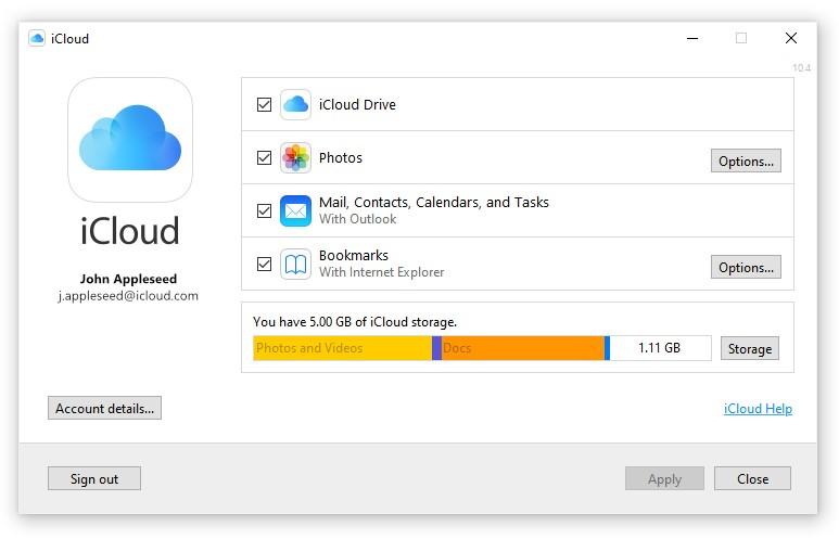 iCLoud voor Windows downloaden