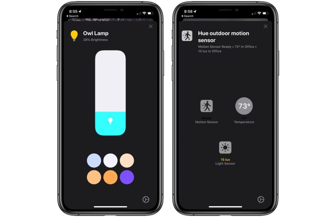 iOS 13 HomeKit Bedieningspaneel