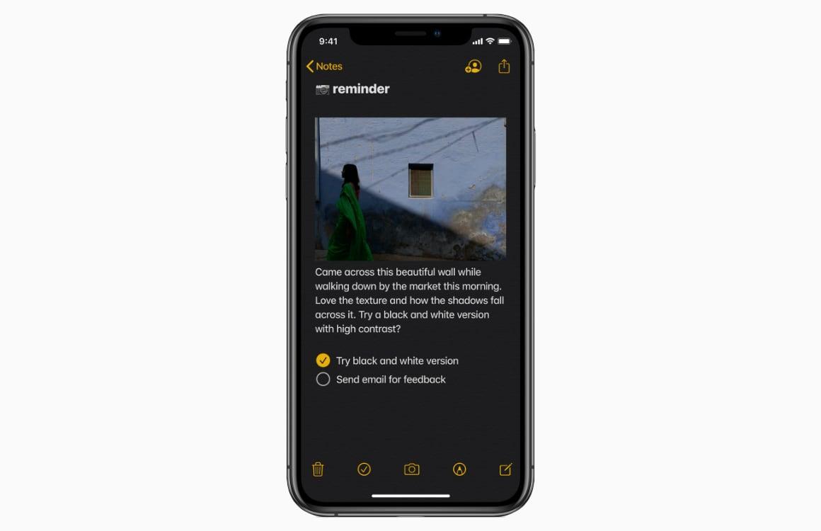 notities-app in ios 13
