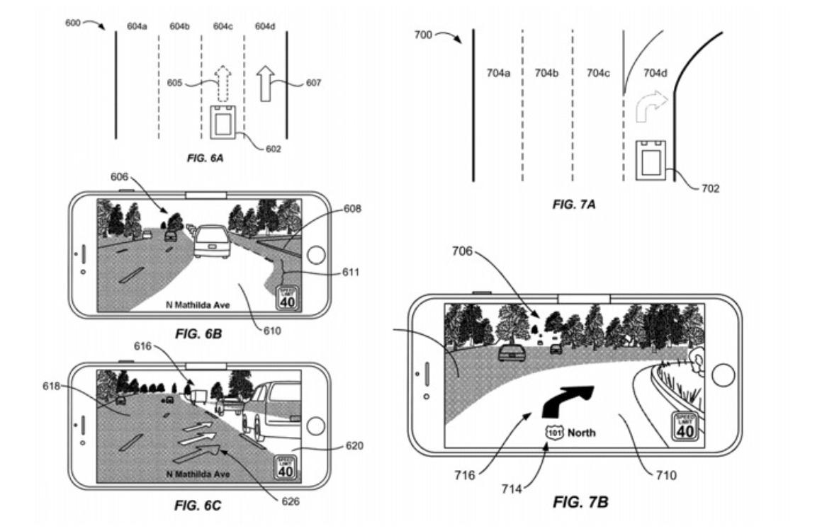 Apple kaarten AR-modus patent