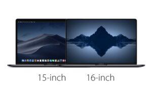 MacBook Pro 2019 16 inch scherm
