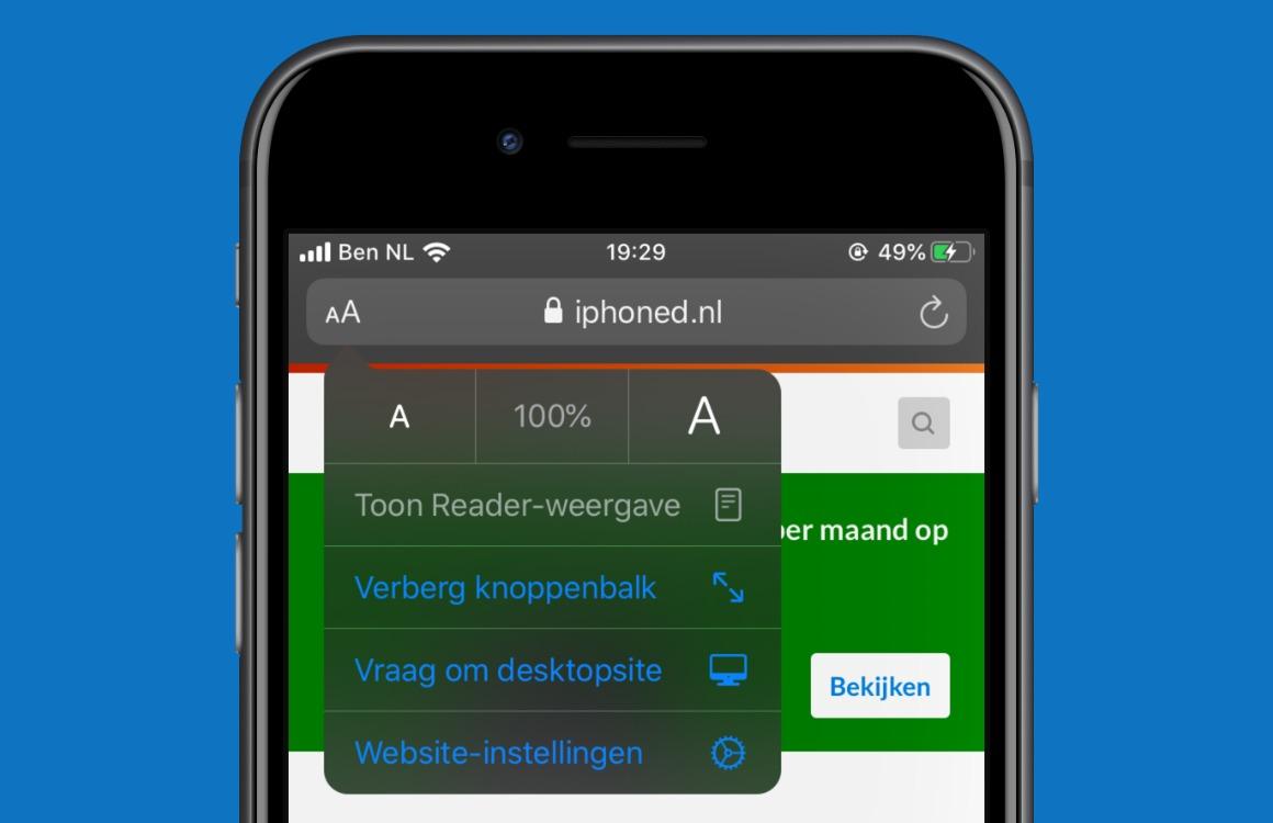 Safari in iOS 13
