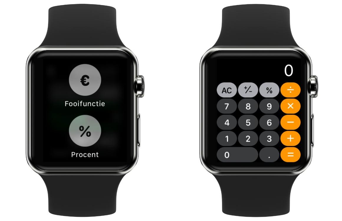 fooi berekenen op Apple Watch