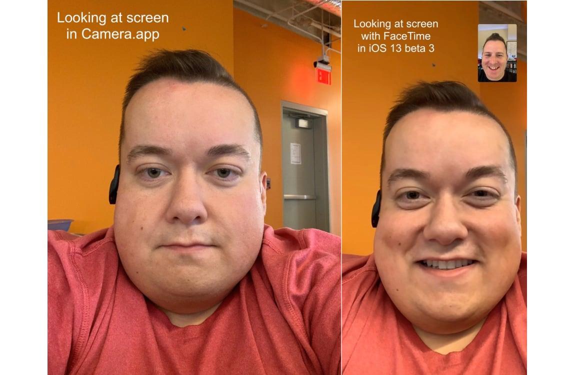 oogcontact-functie FaceTime