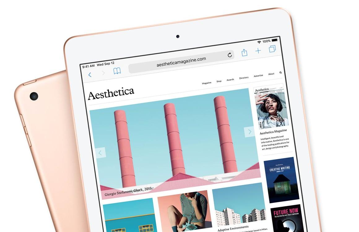'Apple registreert 10,2 inch-iPad 2019 voor een release dit najaar'