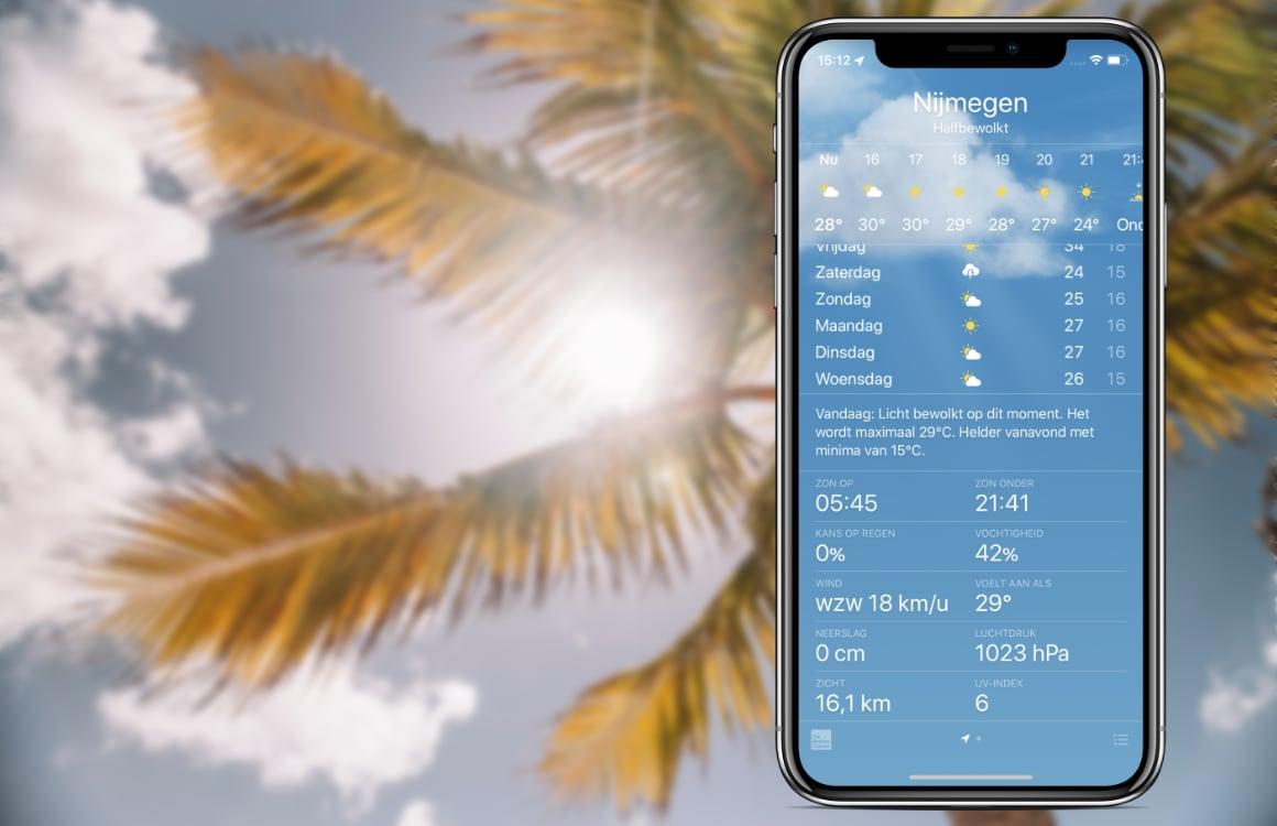 Tip: voorkom verbranden in de hittegolf, check de UV-index op je iPhone