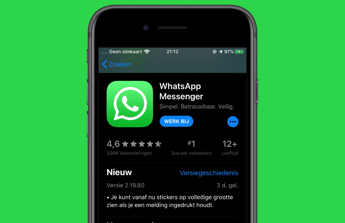 Nep-apps herkennen whatsapp