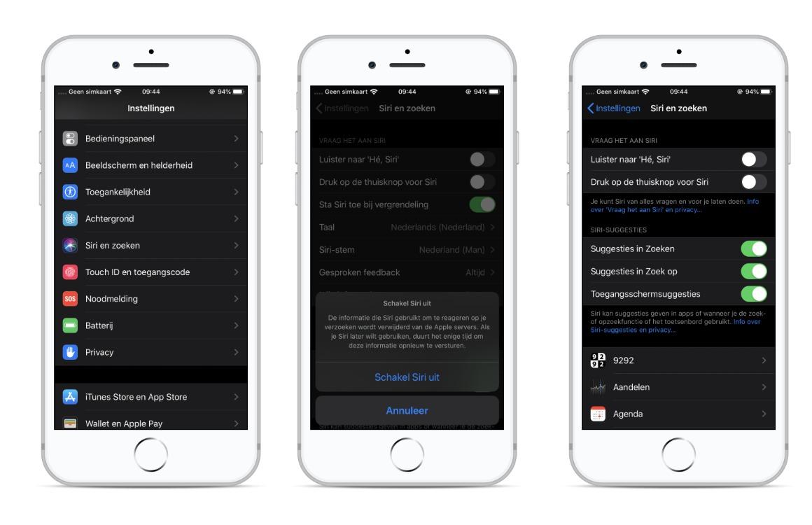 Siri opnames verwijderen