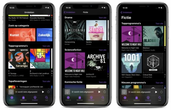 Podcasts app-update