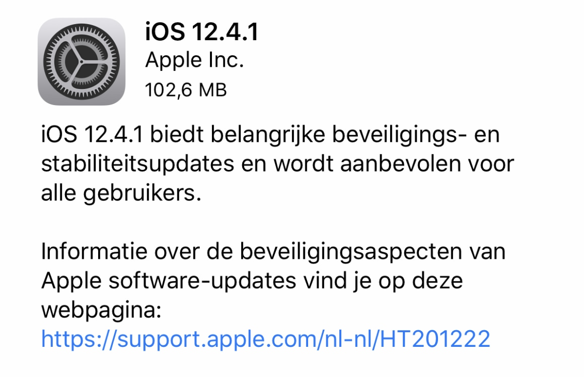 iOS 12.4.1 downloaden