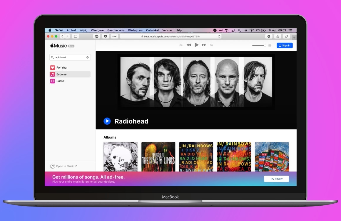 In 3 stappen Apple Music luisteren via je browser