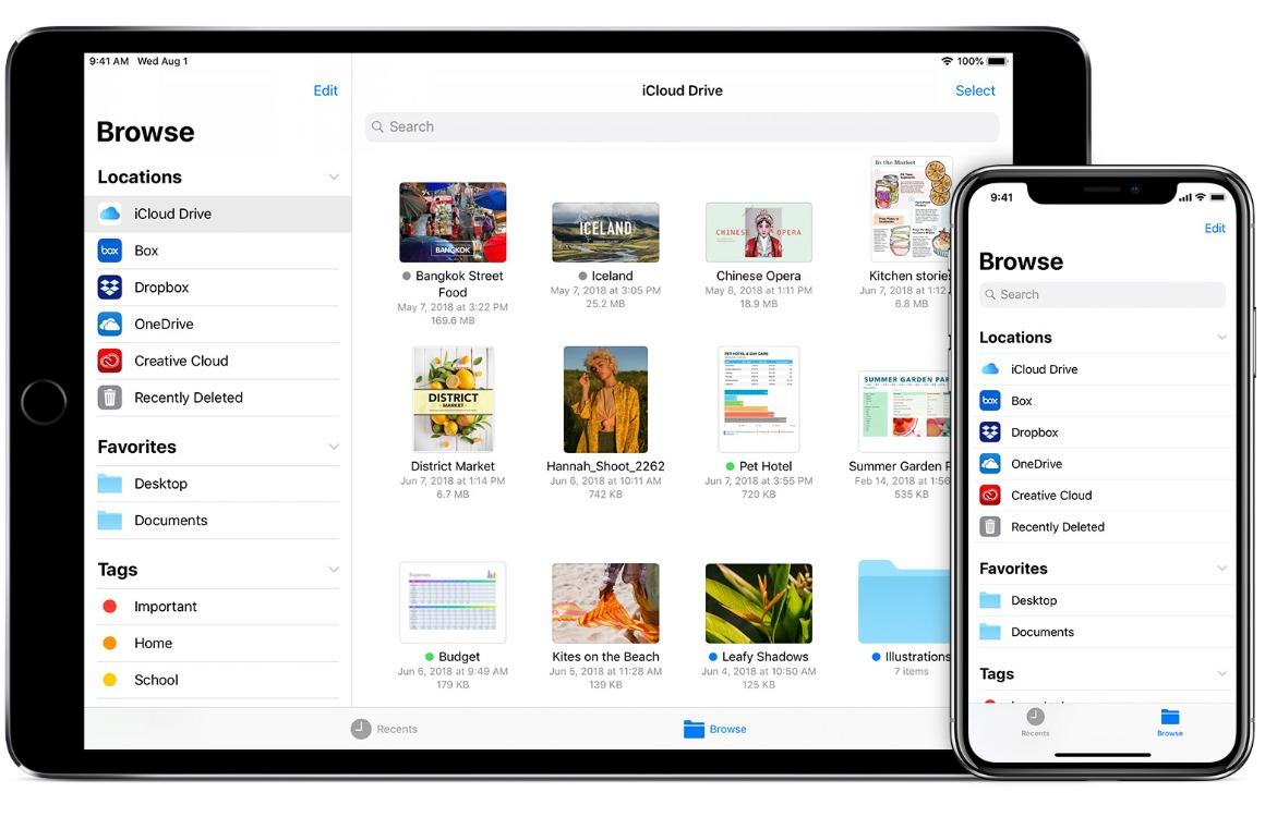 externe opslag koppelen iOS 13 en ipados