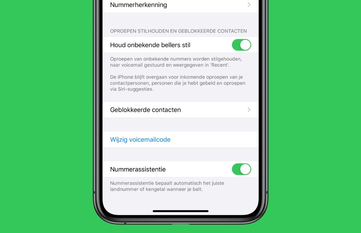 iOS 13-tip: zo stuur je anonieme bellers automatisch naar voicemail