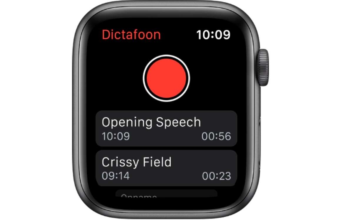 Dictafoon watchos 6