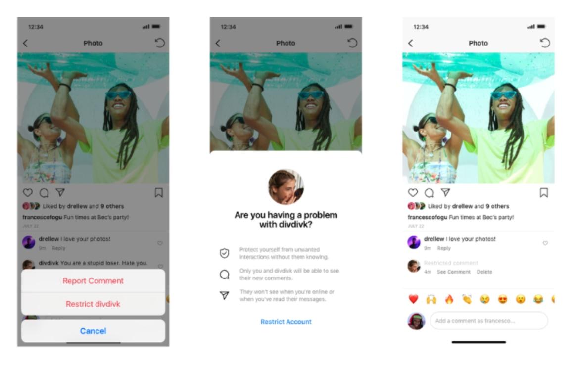 Instagram reacties beperken
