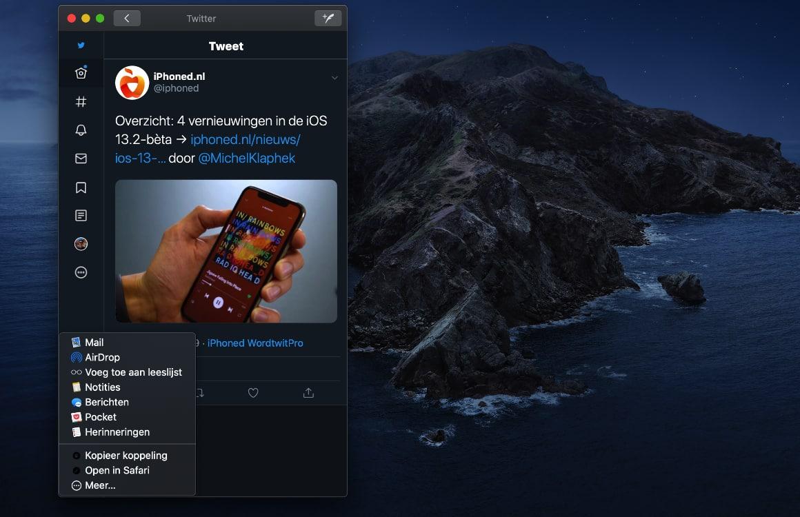 Twitter macOS-app