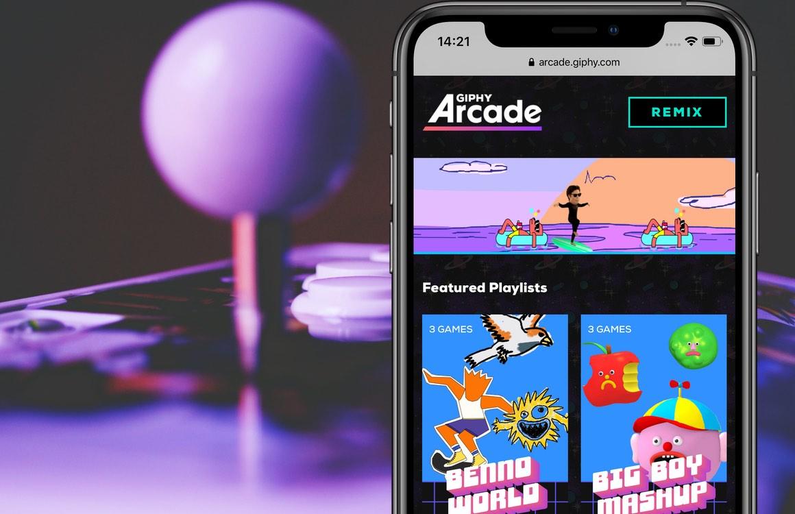 Giphy Arcade: speel, maak en deel minigames online