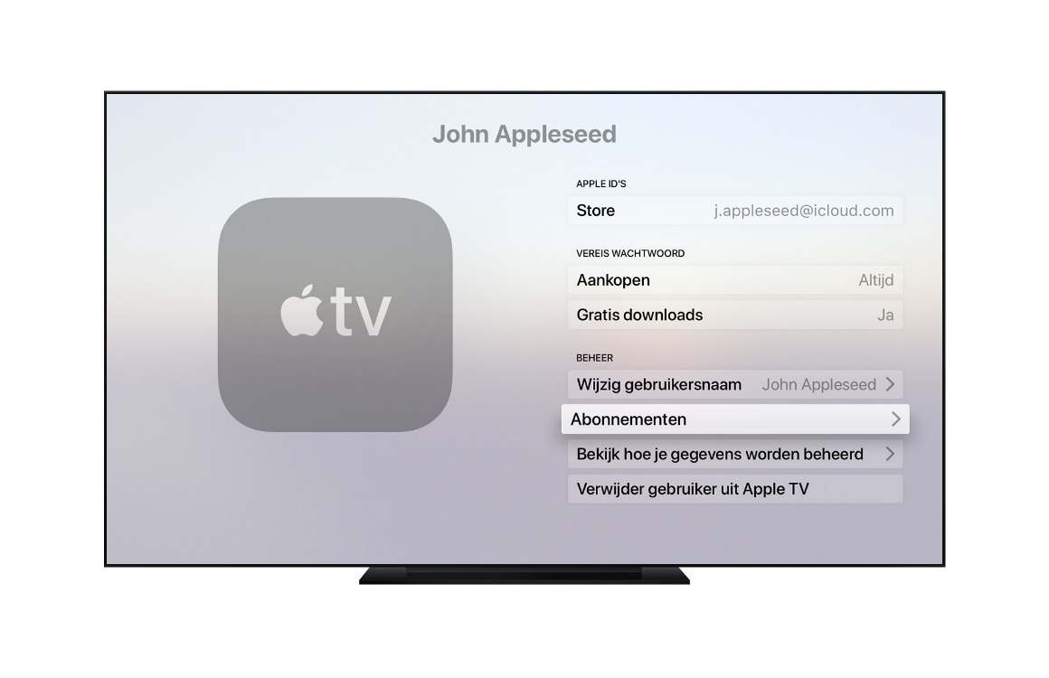 accounts apple tv toevoegen2