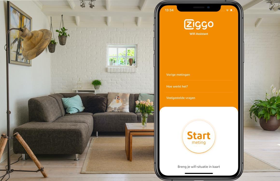 De Ziggo Wifi Assistant-app beoordeelt de wifi-kwaliteit bij je thuis