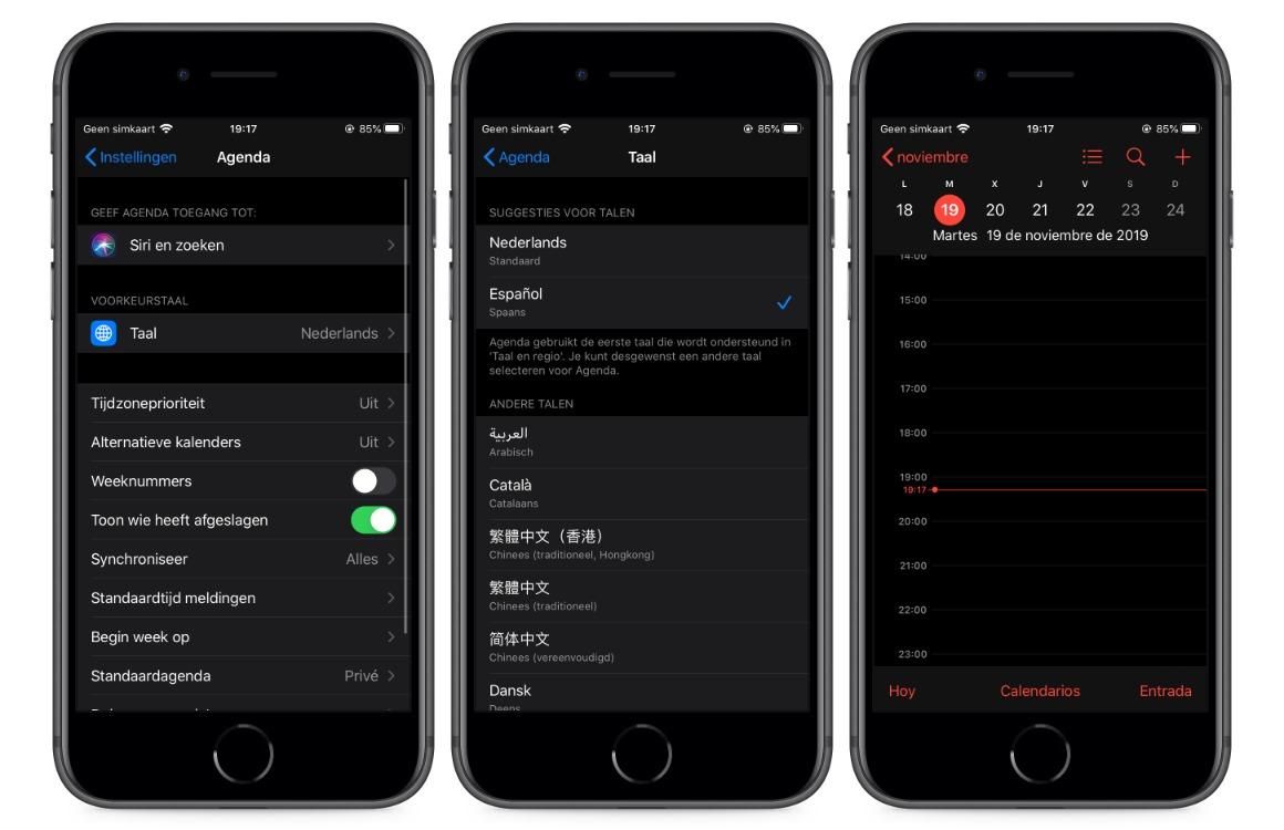 voorkeurstaal per app ios 13 ipados screens