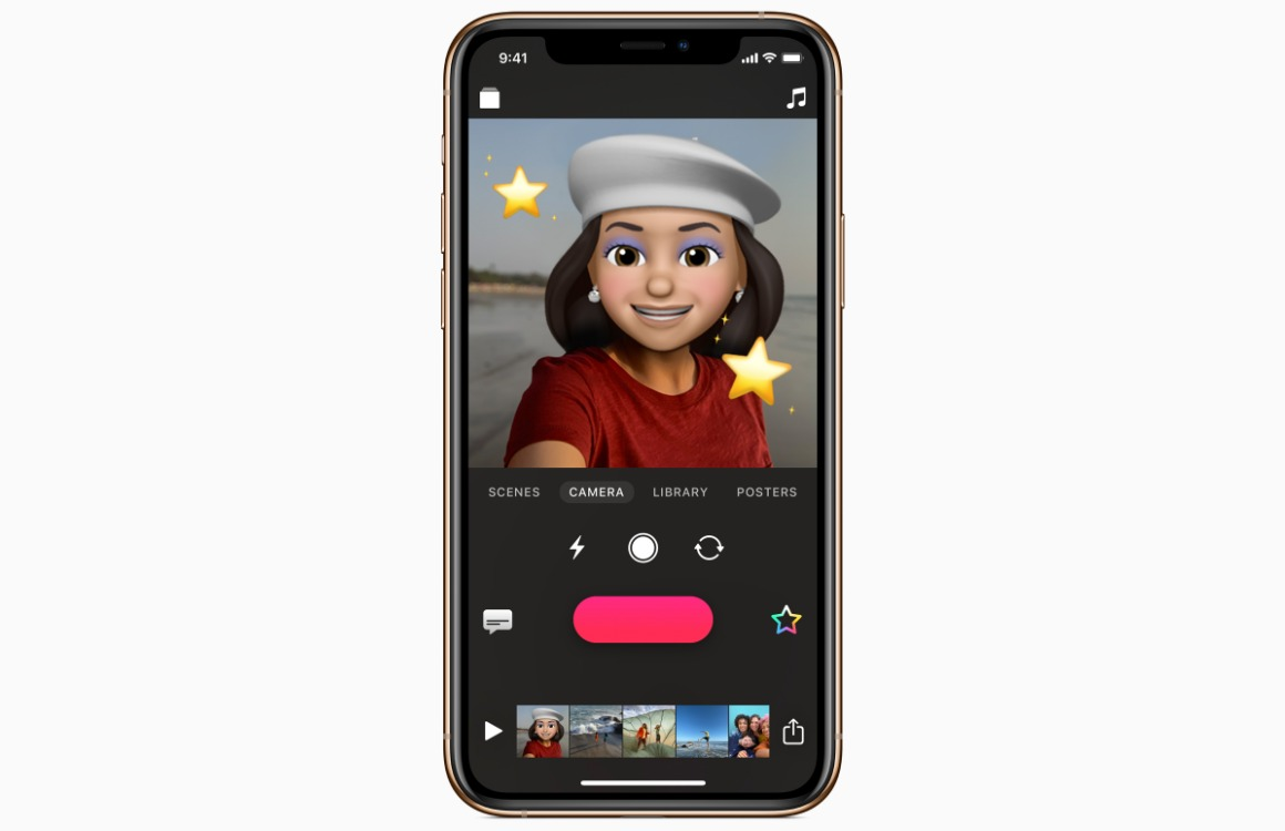 Tip: Animoji, Memoji en Disney-stickers toevoegen in Clips