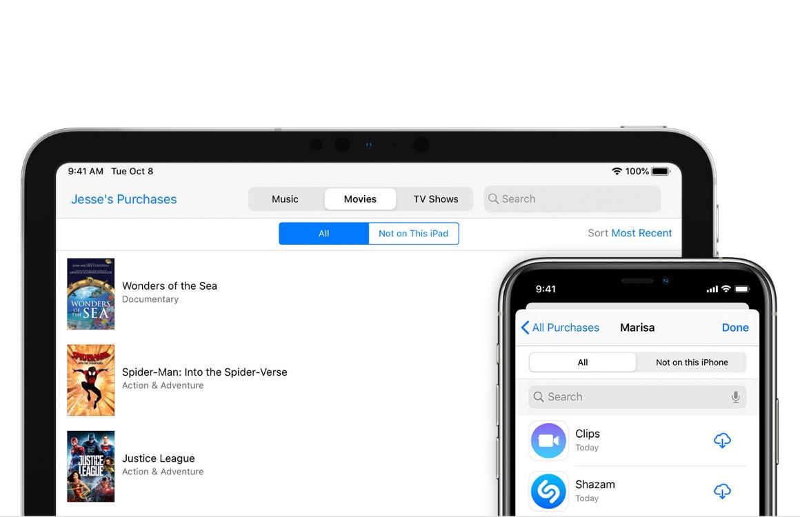 Tip: Apps downloaden van andere gezinsleden via Apple Gezinsdeling