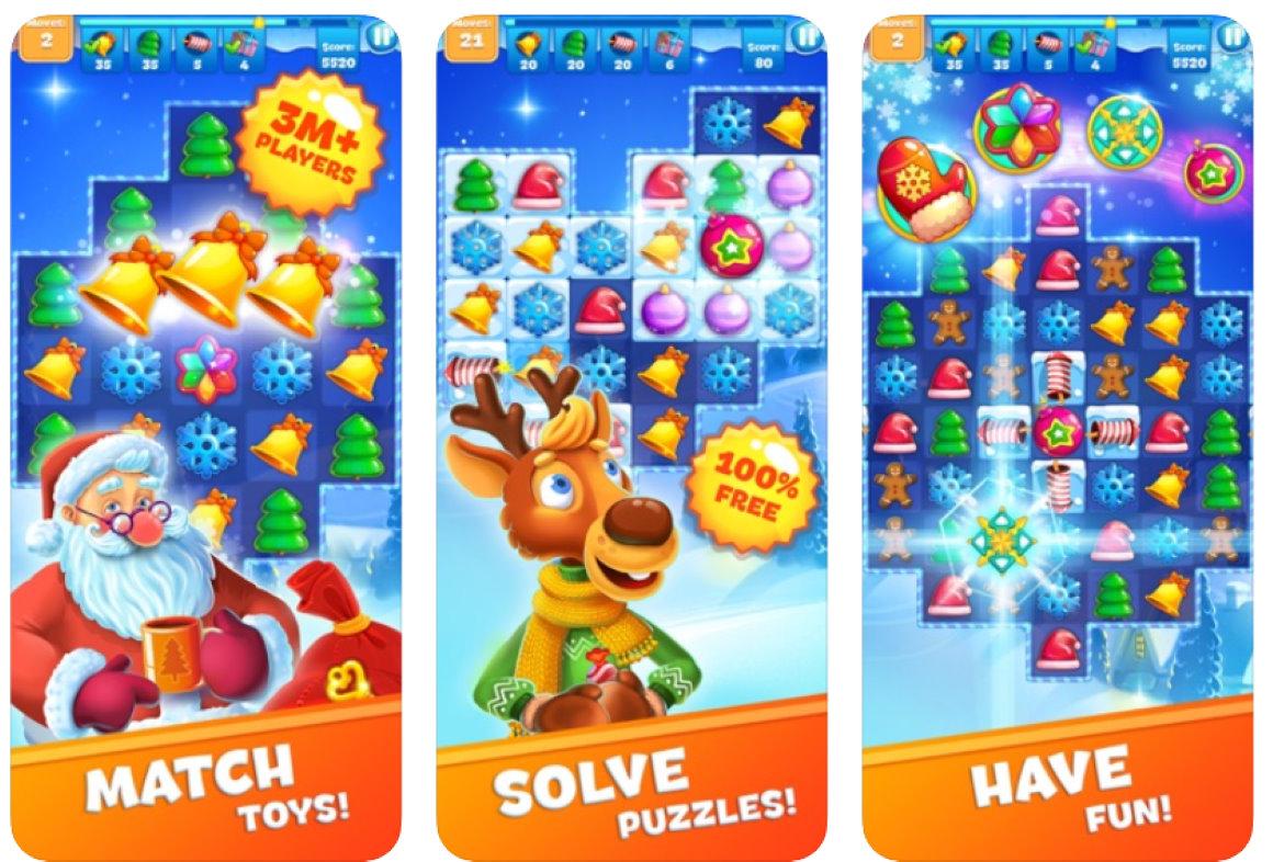 christmas sweeper kerst-apps voor ios