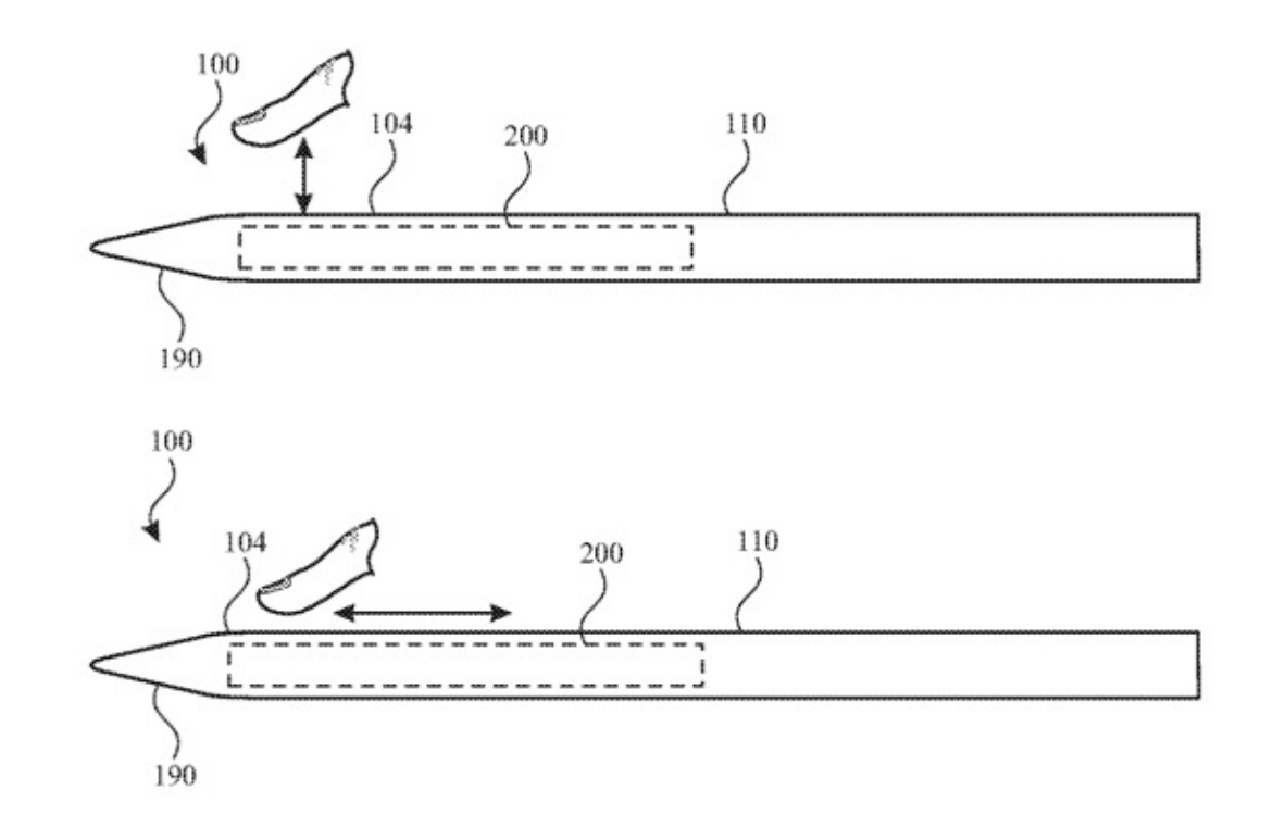 apple pencil 3 touchscreen patent