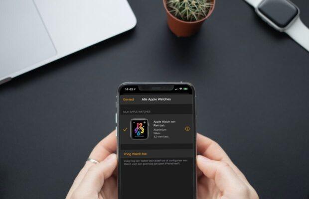 Apple Watch op iPhone