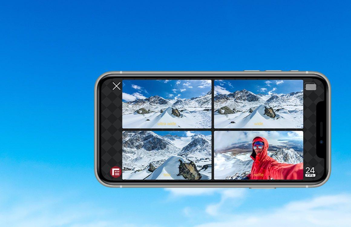 FiLMiC Doubletake: filmen met meerdere camera's tegelijk met je iPhone
