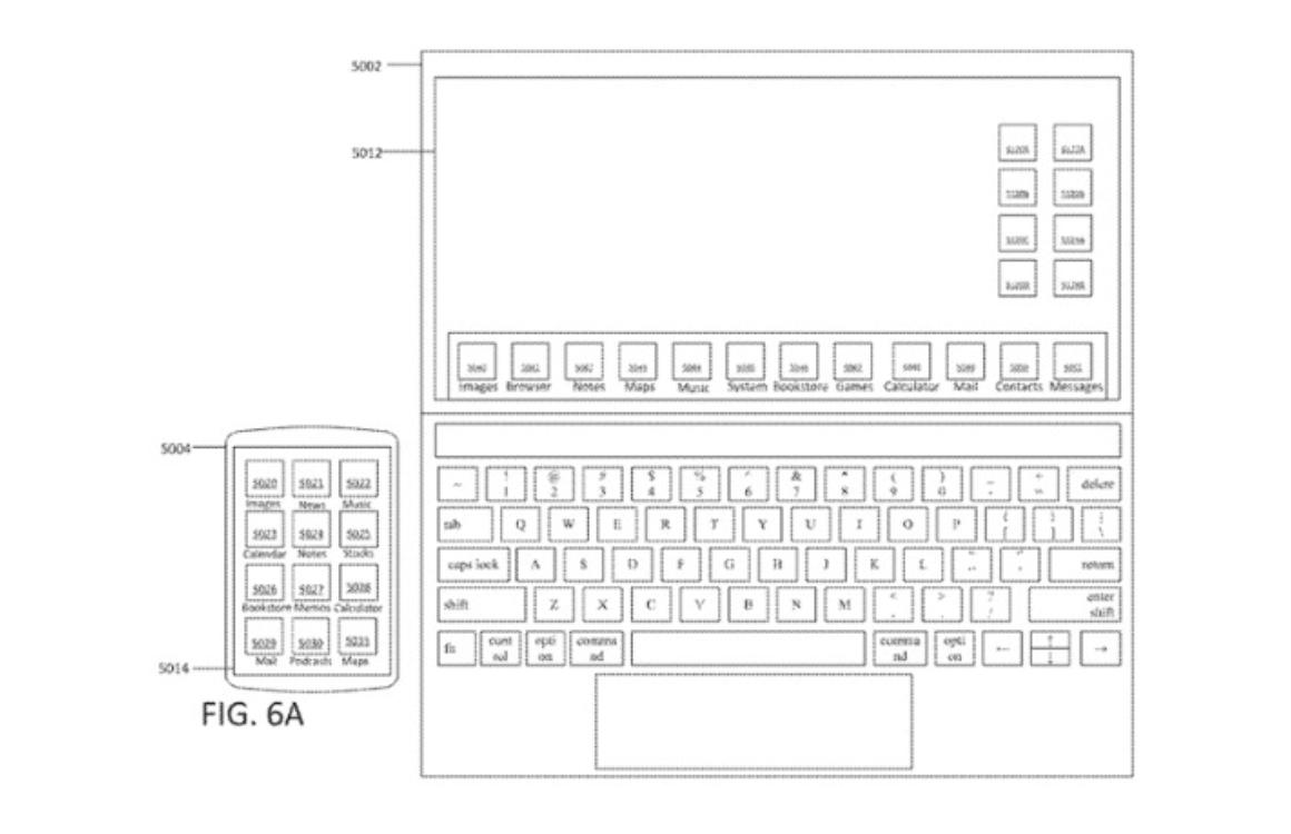 Touchscreen Mac patent