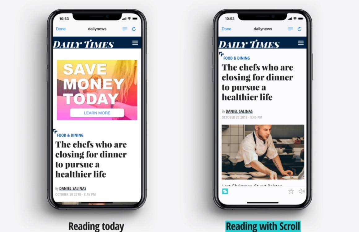 Met Scroll koop je advertenties op websites af en steun je de journalistiek