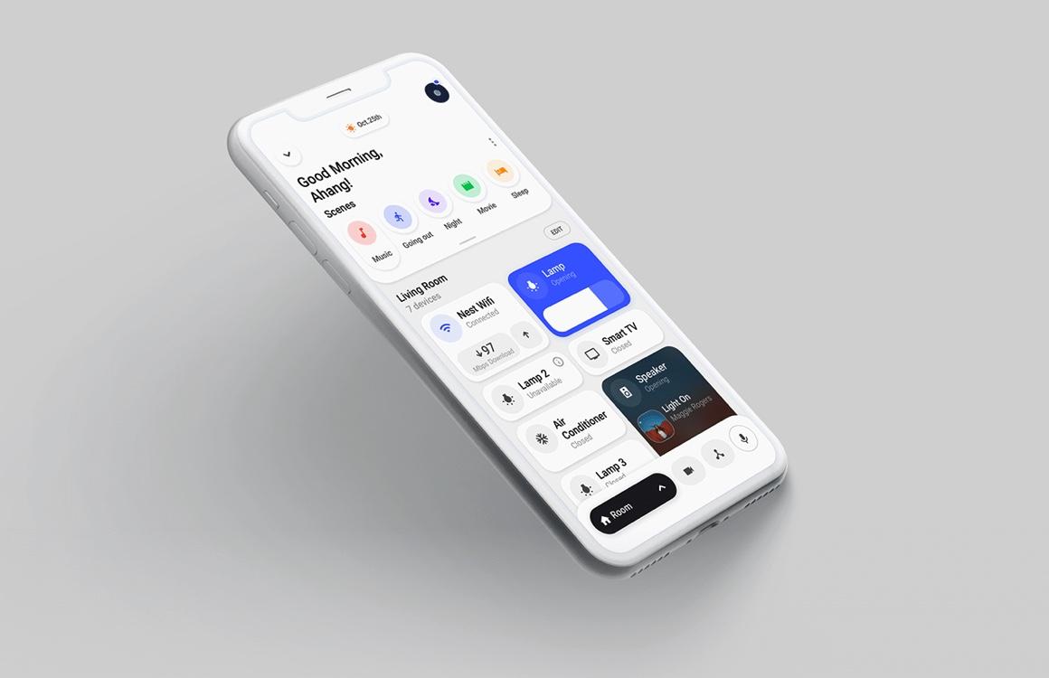 Fraai concept van een nieuwe Home-app: alles in één