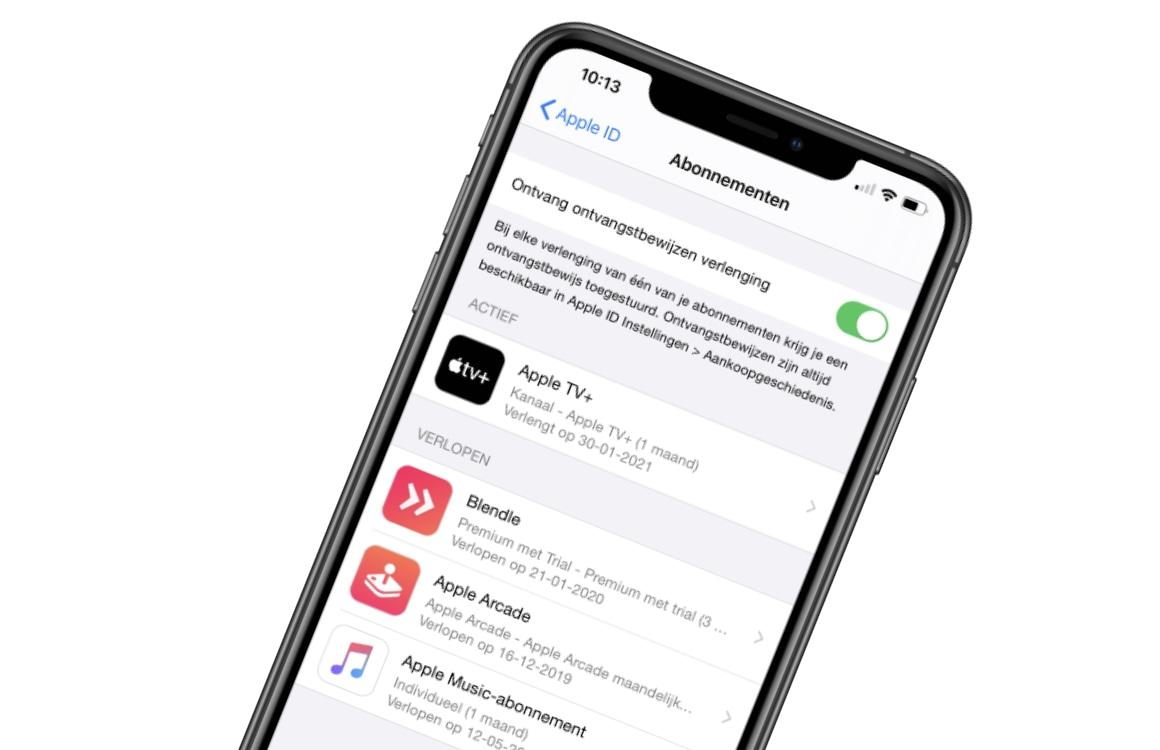 Apple abonnementsmeldingen