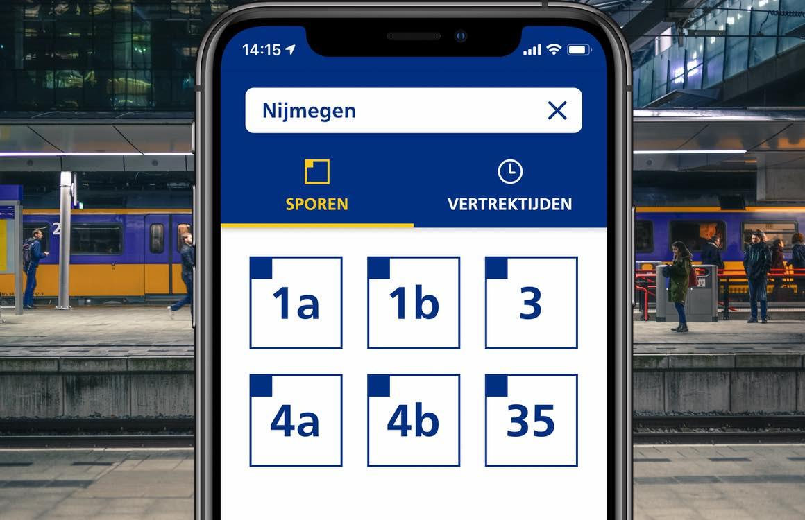 NS Perronwijzer: hulp voor treinreizigers met een visuele beperking