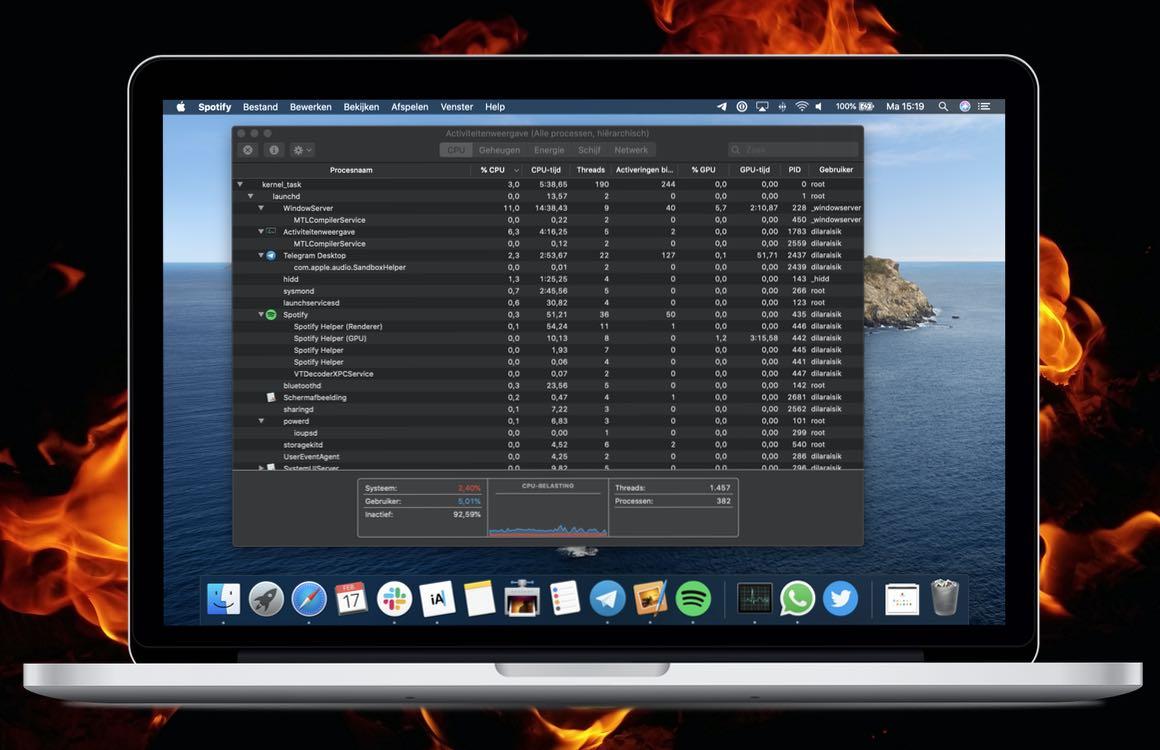 MacBook wordt heet: voorkom overbelasting met Activiteitenweergave