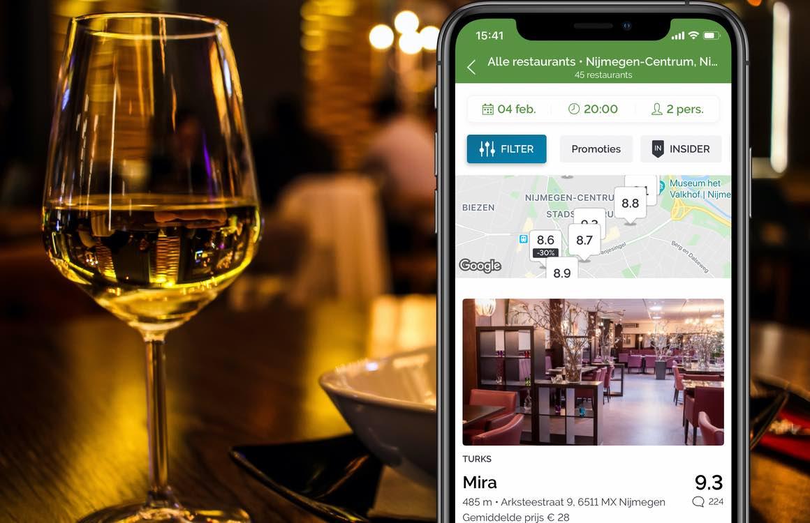 Deze apps helpen je bij het plannen van de perfecte date