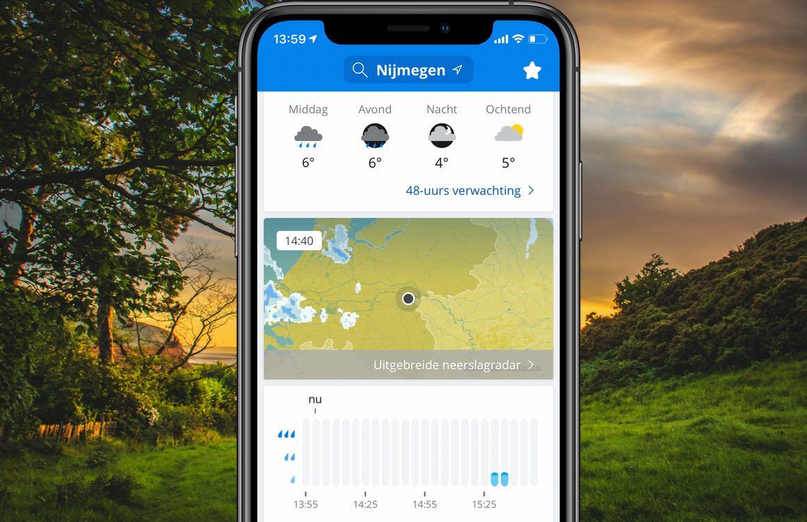Weeronline: 4 tips om alles uit de populaire weer-app te halen