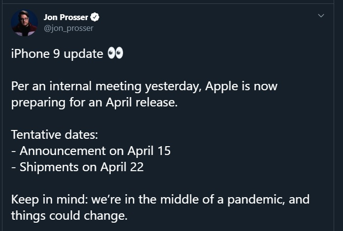 iphone 9 release april 2020 gerucht