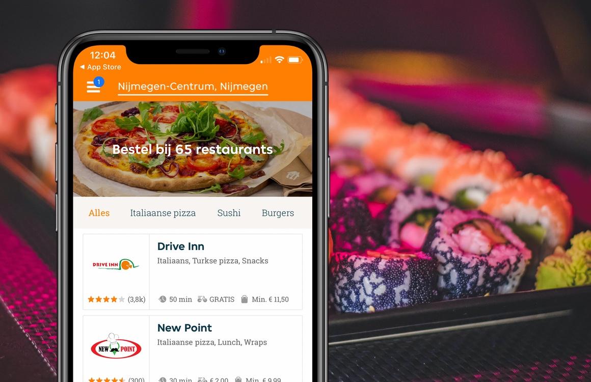 Met deze 6 bezorg-apps heb je snel een maaltijd in huis