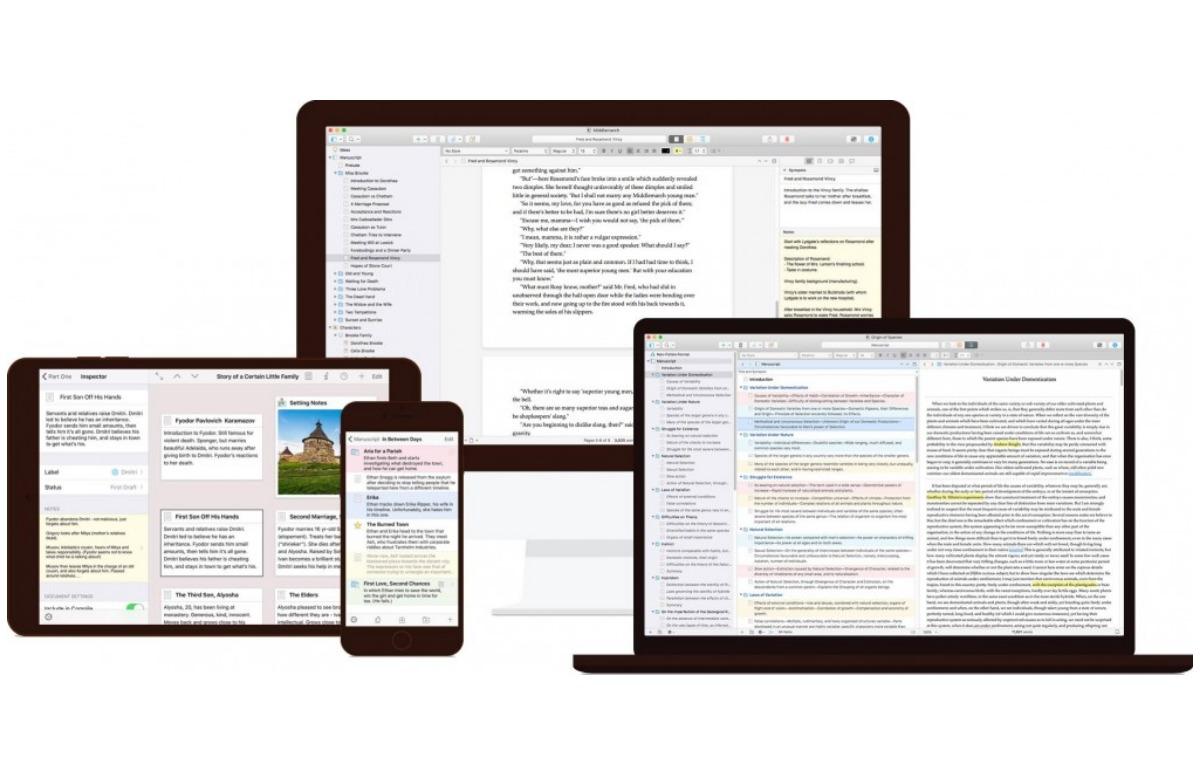 schrijf app scrivener