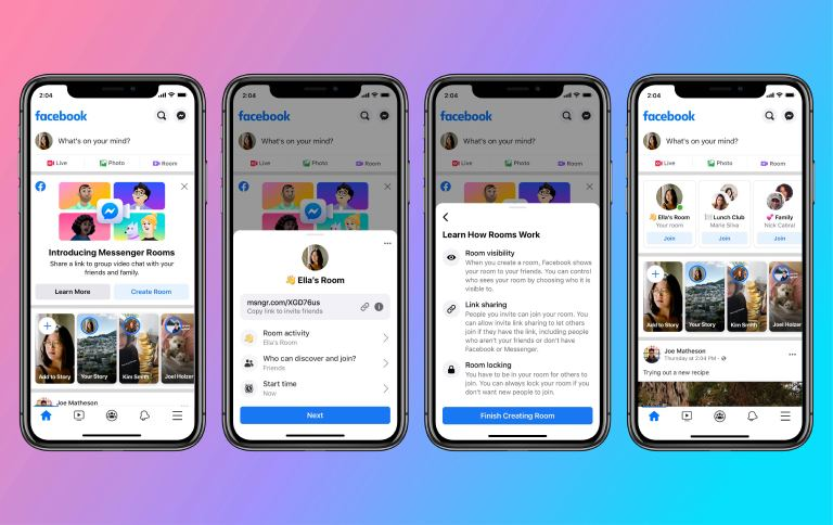 facebook messenger rooms iphone