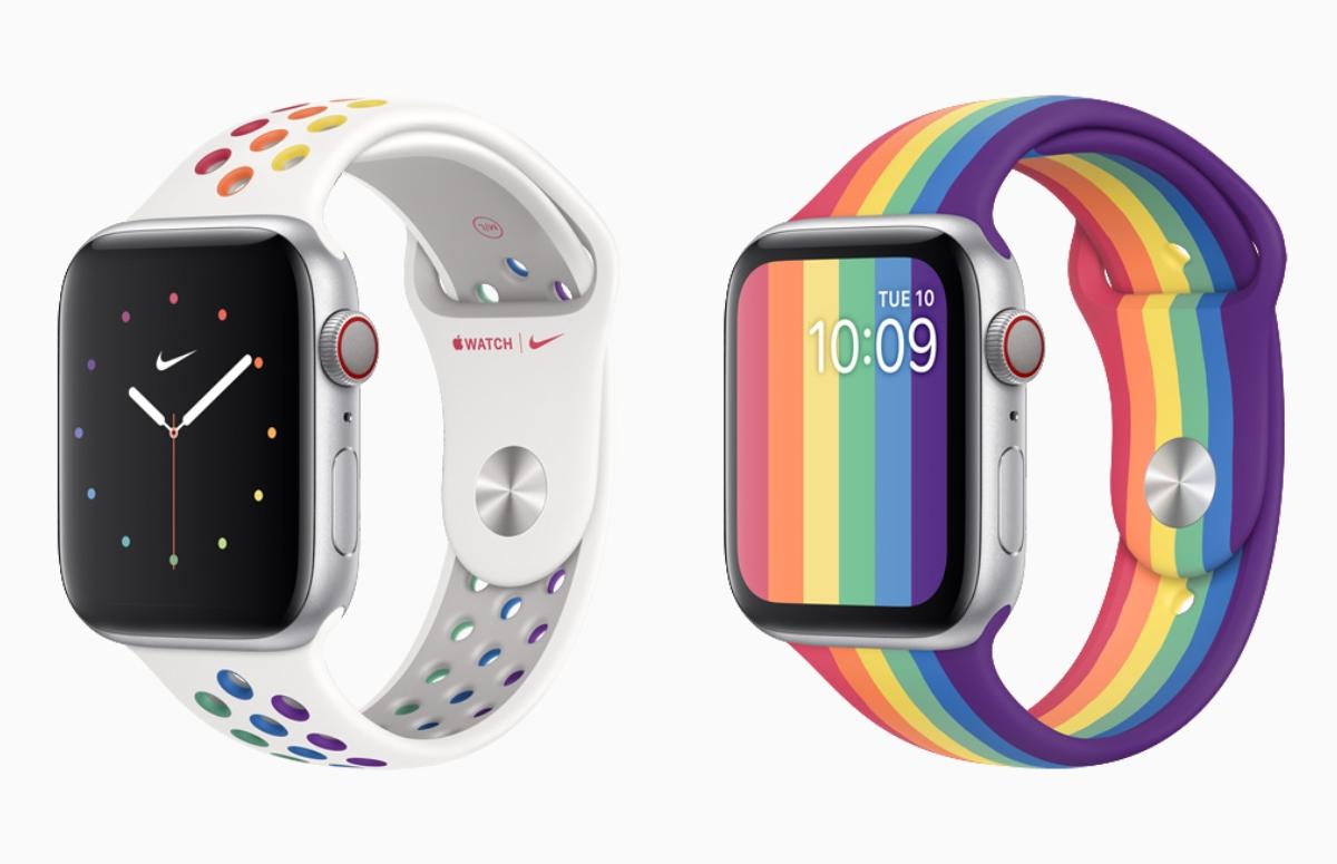 Nieuwe Apple Watch Pride-wijzerplaten en bandjes vanaf eind mei beschikbaar